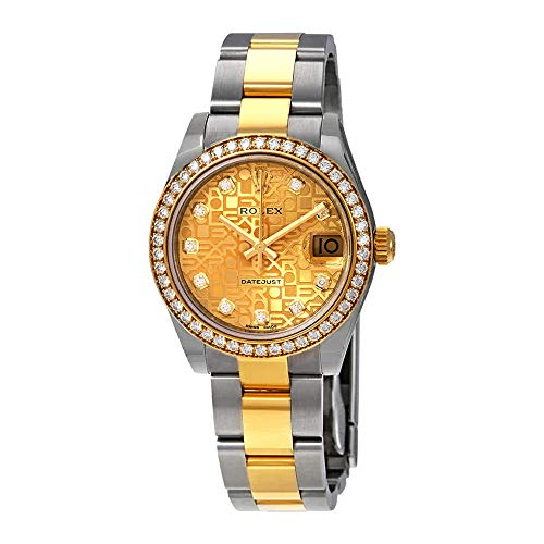 Rolex Datejust 31 Champagne Jubilee Diamond Dial Ladies Steel and 18kt Yellow Gold Oyster Watch 178383CJDO