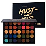 Beauty Glazed Make Up Eyeshadow Palette 35 Colors Blendable Chunky Pigmented Matte and Shimmer Pop...