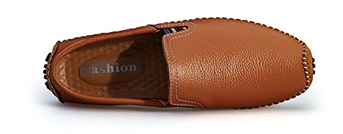 BIFINI Men's Cowhide Casual Driving Moccasins Shoes Slip On Loafer Brown by BIFINI (Image #2)