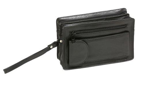 Borsello da uomo LEAS, Vera Pelle, nero - ''LEAS Men's Bags''