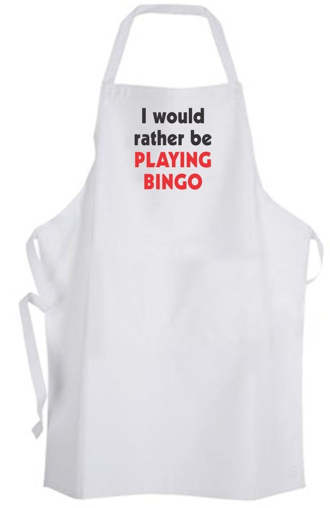 I would rather be Playing Bingo – Adult Size Apron