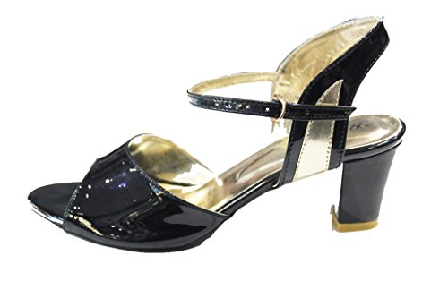 Wear & Walk UK - Sandalias de vestir de charol para mujer negro