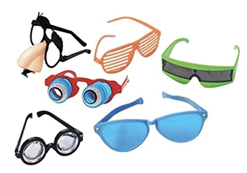 Nikki's Knick Knacks Funny Disguise Assorted Glasses- Set of 6 -