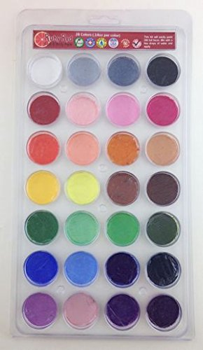 Ruby Red Paint, Inc. Face Paint, 2ML X 28 Colors - Top 28 Colors