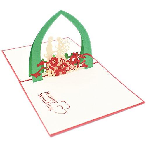 N.egret Handmade 3D Pop Up Greeting Wedding Invitation Card Marriage Anniversary Card Gift Card (Wedding (Homemade Halloween Gift Ideas)