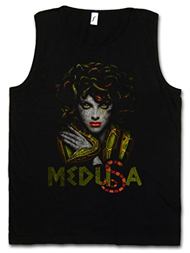 MEDUSA HERREN TANK TOP MUSCLE SHIRT – Gorgone Schlangen Schlangenkopf Snakes Perseus Mythologie Greece Größen S – 5XL