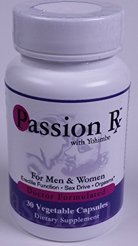 Passion Rx with Yohimbe, 30 Capsules - Formulated by Ray Sahelian, M.D