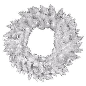 Vickerman Pre-Lit Spruce Wreath with 100 Clear Dura-Lit Lights, 36-Inch, Sparkle White ()