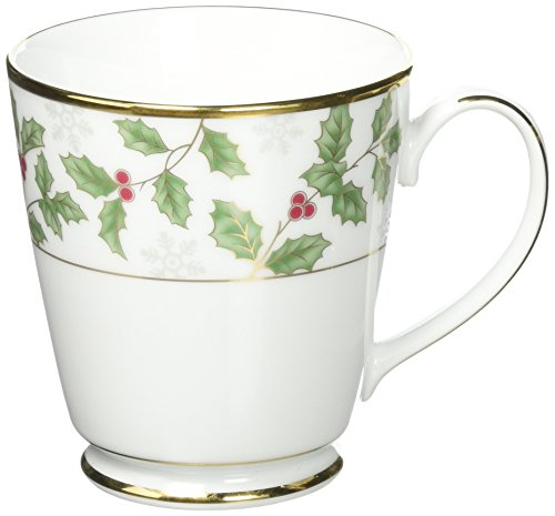Noritake Holly and Berry Gold Mug -  Noritake CO., INC. - DROPSHIP, 037725536071