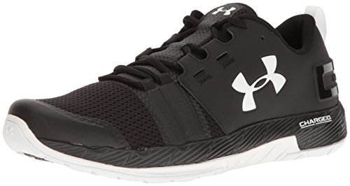 Under Armour Commit Mens Training Fitness Trainer Shoe Black/White - US 10