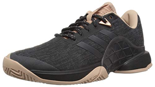 adidas Women's Barricade 2018 LTD Tennis Shoe, ash Pearl/Black, 6.5 M US