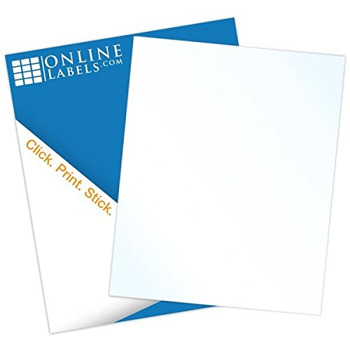 Clear Sticker Paper (100 Sheets), Crystal Clear w/ a Glossy Finish (INKJET ONLY) - 8.5' X 11'