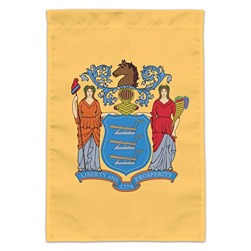 GRAPHICS & MORE New Jersey State Flag Garden Yard Flag (Pole Not Included)