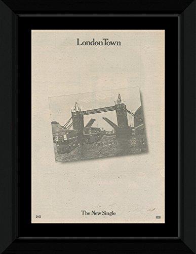 NME PAUL MCCARTNEY & WINGS - London Town Framed Mini Poster - 53x43cm