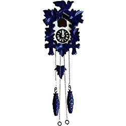 Sternreiter Blue! Black Forest Quartz Cuckoo Clock #1201BQM