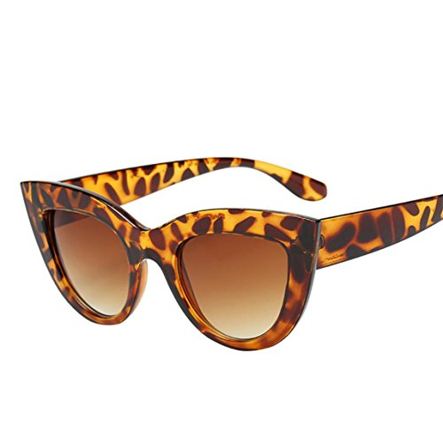 Nadition Fashion Women Retro Vintage Cat Eye Sunglasses Clout Goggles Polarized Sunglasses (C) from Nadition