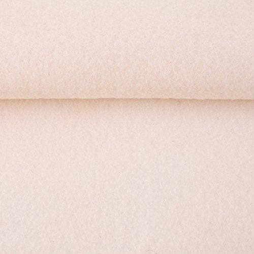 Filz, Filzstoff, Dekorationsfilz, Bastelfilz, Breite 92 cm, Dicke 1,5 mm, Preis pro lfm, verschiedene Farben (natur-weiß)