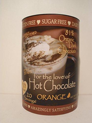 InJoy Organics, Organic, Dark Chocolate, Dairy Free, Sugar Free, Gluten Free, Hot Chocolate, Orange, 20 Servings by InJoy Organics