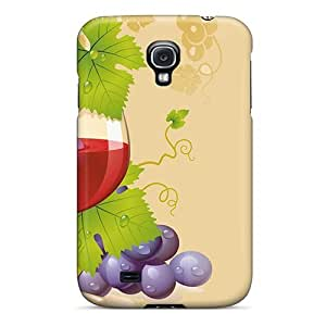 Durable Defender Case For Galaxy S4 Tpu Cover(celebrate A Glass)