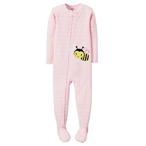 Carter's Just One You Baby Girls' Bumblebee Footed Pajamas- Pink