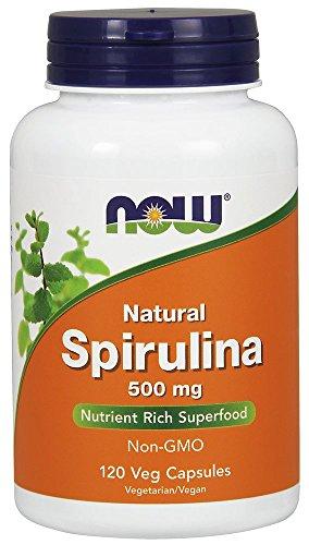 NOW  Spirulina 500mg,120 Veg Capsules