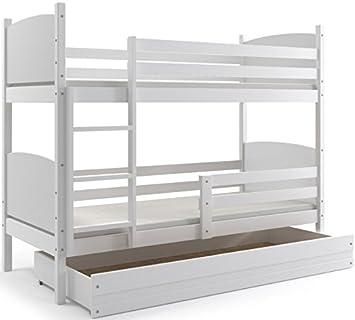 Interbeds Cama Doble - litera Infantil,Tami, 160X80, Color Blanco, los Paneles (colchones,somieres y cajón Gratis) (Blanco): Amazon.es: Hogar