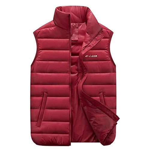 Rinalay Giù Rot Vita Gilet Vest Tasche Giubbotto Plus Uomo Laterali Cappotto Cerniera Size Capispalla Casuale Con Formale Colletto In f7fwqxrS