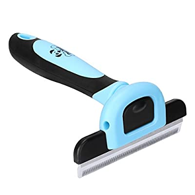 Pet Grooming Brush Effectively Reduces Shedding By Up To 95% Professional Deshedding Tool For Dogs And Cats from Pet Neat