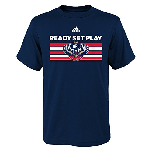 fan products of NBA New Orleans Pelicans Boys Youth Born One Short Sleeve Tee, Large (14-16), Navy