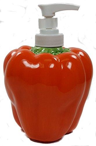 ORANGE BELL PEPPER 3-Dimensional Soap/Lotion Dispenser NEW (Bell Dispenser)