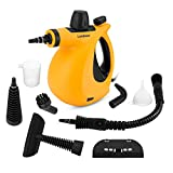 Lambow Handheld Pressurized Steam Cleaner with 9-Piece Accessory Set - Multi-Purpose and Multi-Surface