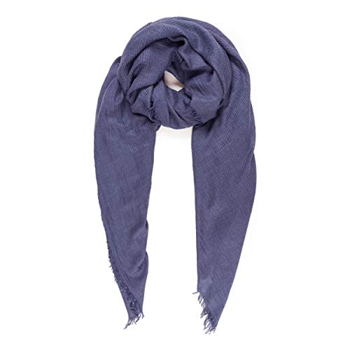 Scarves for Women: Lightweight Elegant Solid colors Fashion Scarf by MIMOSITO (Waffle Textured, Navy Blue) by MIMOSITO