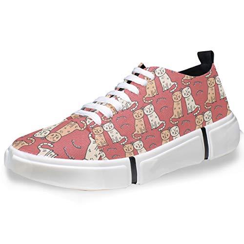 MONTOJ Cute Cats Pattern Men's Fashion Personality Sneakers