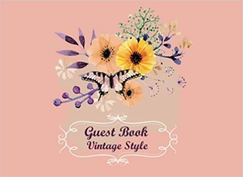 guest book vintage style for party guest book baby shower bridal shower birthday wedding and anniversary home office events party guest book