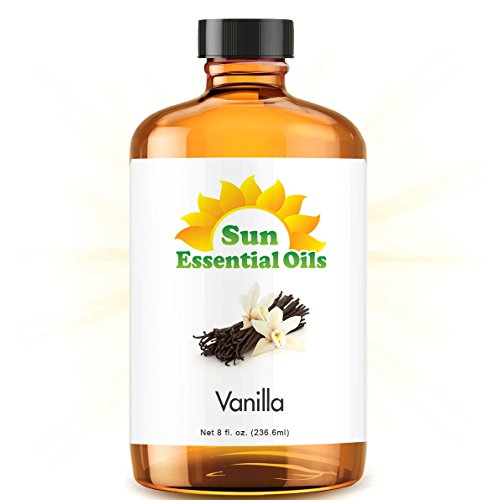 Vanilla Bath Oil - 8oz Bulk Vanilla Essential Oil (Huge 8 Ounce Bottle)