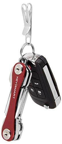 KeySmart Nano Clip - Pocket Clip Key Ring Holder - Secure