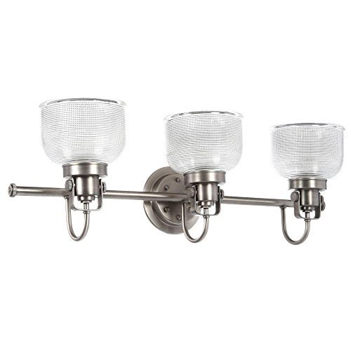 Archie 3-light Antique Nickel Vanity Light, Provides a Fun and Fashionable Way to Light Your Home by Generic