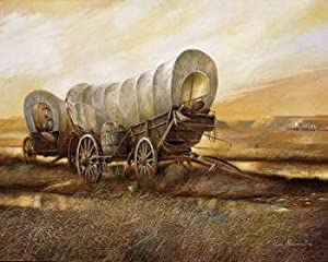 """Ron Stewart Oil Painting, """"Stagecoach"""" , #100  