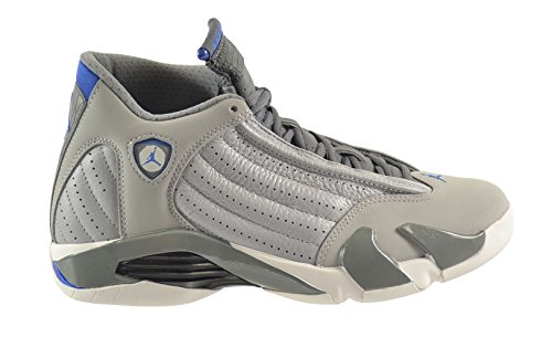 Air Jordan 14 Retro Herenschoenen Wolf Grijs / Sport Blue-clay Grijs-wit 487471-004 (9 D (m) Us)
