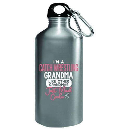 Gift Catch Wrestling Grandma Much Cooler Mothers Day Present - Water Bottle by My Family Tee