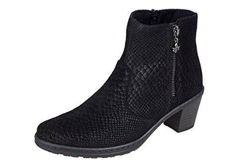 Rieker - Pantuflas de caña alta Mujer negro