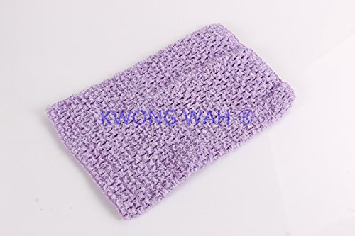 Crochet Lavender - Kwong Wah 6inch x 6inch Crochet Top for Children Kids Tutu Dress Top Sold Individually (Lavender)