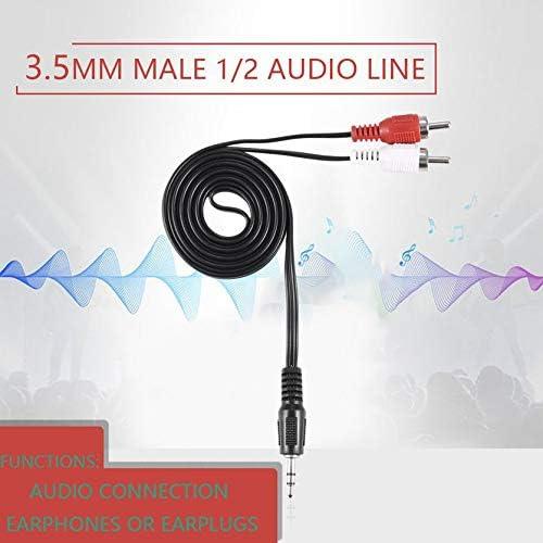 RoxTop Cavo Adattatore Da 3,5 Mm Jack Da 3,5 Mm A 2 Rca Maschio Audio Stereo Cuffia Cuffia Auricolare Y Cavo Adattatore Splitter; Nero 30 10MM 150