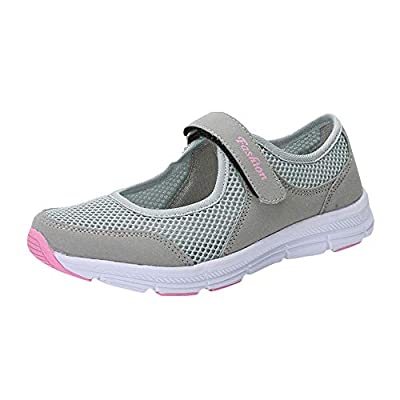 Fashion Women Mesh Velcro Sandals Shoes Lightweight Quick Dry Anti Slip Fitness Running Sneakers Comfortable Sport Shoes