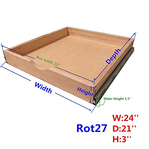 Knape Vogt 24 In H X 3 In W X 13 In D Steel Appliance: Compare Price: Drawer Kitchen Cabinet
