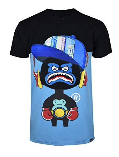 (SCREENSHOTBRAND-S11909 Mens Hip-Hop Ultra Premium Tee - Luxury Longline Street Graffiti Cartoon Print)