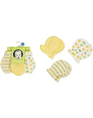 Gerber Unisex-Baby Newborn 3 Pack Mitten
