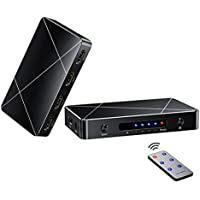 HDMI Switch,4x1 HDMI Switch Box 2.0 4 Port Switch IR Remote Support 4Kx2K 60Hz,SGEYR 4 in 1 Out Hdmi Switch Switcher HDMI 2.0 HDCP 2.2