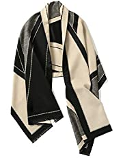 Blanket Scarf, Winter Pashmina Shawls & Wraps Cashmere Feel Winter Scarves For Men & Women