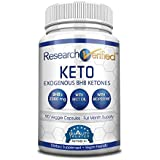 Forschung Verified Keto - Vegan Keto Supplement with 4 Exogenous Ketone Salts (Calcium, Sodium, Magnesium and Potassium) and MCT Oil to Boost Energy, Weight Loss and Focus in Ketosis - 1 Bottle